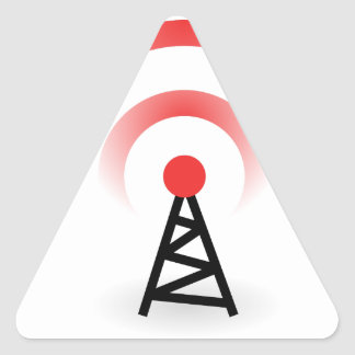 Wireless Network Triangle Sticker