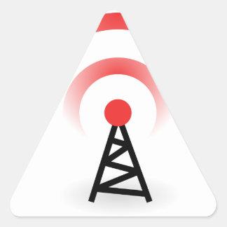 Wireless Network Triangle Sticker
