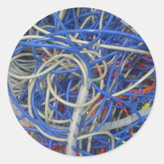 Wires Classic Round Sticker