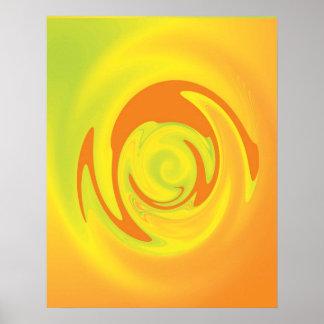 Wirlwind Orange Yellow Poster