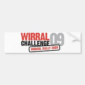 Wirral Challenge 2009 Bumper Sticker