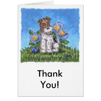 """Wiry """"Thank You"""" card with envelope"""