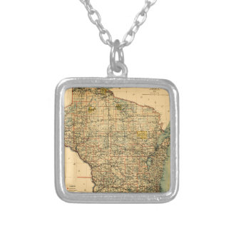 wisconsin1896 silver plated necklace