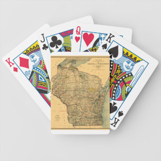 Wisconsin 1896 bicycle playing cards