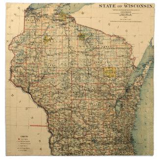 Wisconsin 1896 napkin