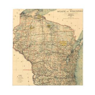 Wisconsin 1896 notepad