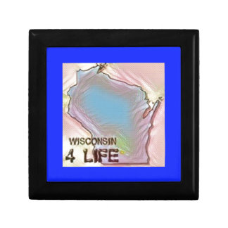"""""""Wisconsin 4 Life"""" State Map Pride Design Gift Box"""