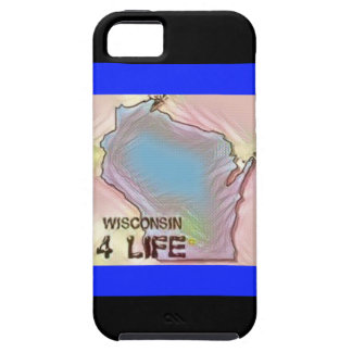 """Wisconsin 4 Life"" State Map Pride Design iPhone 5 Cases"