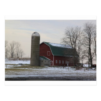 Wisconsin Barn Postcard
