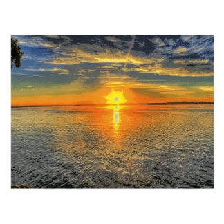Wisconsin Beautiful Scenic Sunset Lake Postcard