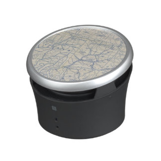 Wisconsin Bicycle Road Map 6 Bluetooth Speaker