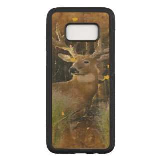 Wisconsin Big Buck Whitetail Deer Signature Carved Samsung Galaxy S8 Case