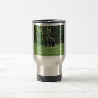 Wisconsin Black bear Travel Mug