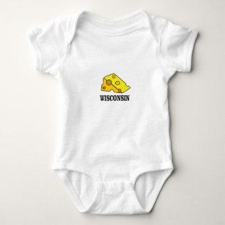 Wisconsin cheese head baby bodysuit
