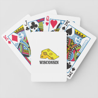 Wisconsin cheese head bicycle playing cards