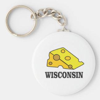 Wisconsin cheese head key ring