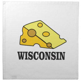 Wisconsin cheese head napkin