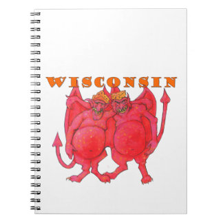 Wisconsin Cheesehead Demons Notebooks