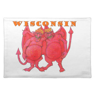 Wisconsin Cheesehead Demons Placemat