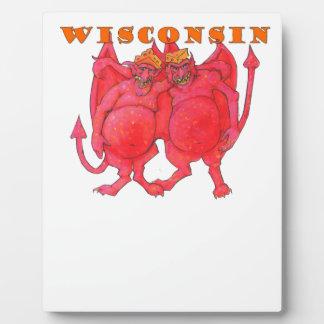 Wisconsin Cheesehead Demons Plaque