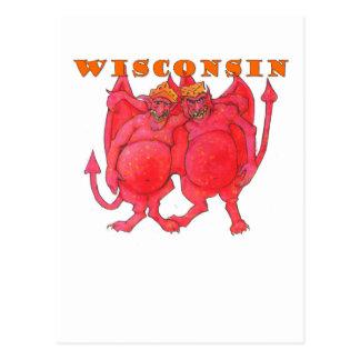 Wisconsin Cheesehead Demons Postcard