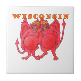 Wisconsin Cheesehead Demons Small Square Tile