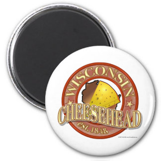 Wisconsin Cheesehead Seal 6 Cm Round Magnet