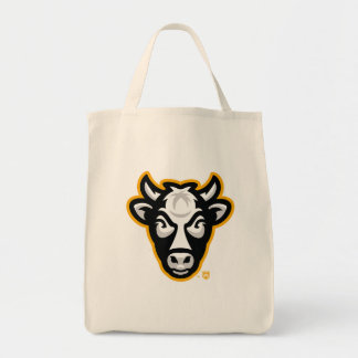 Wisconsin Cow Logo Grocery Tote