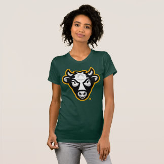 Wisconsin Cow Women's Fine Tee (Forest Green)