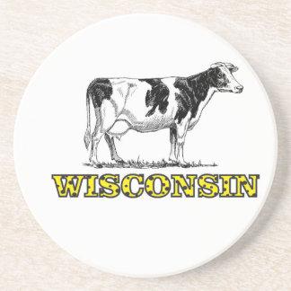 Wisconsin dairy cow coaster