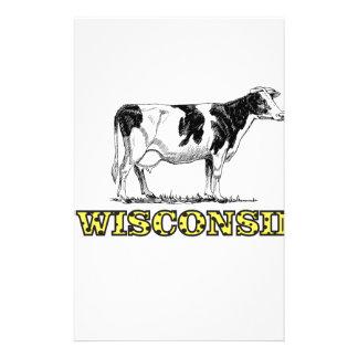 Wisconsin dairy cow stationery