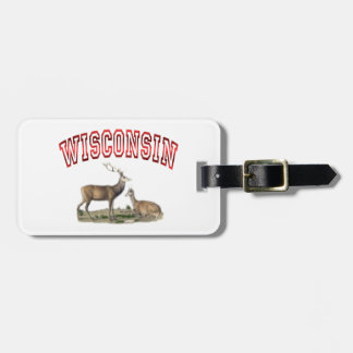 Wisconsin deer scene Luggage Tag