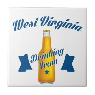 Wisconsin Drinking team Small Square Tile