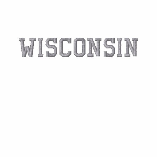 Wisconsin Embroidered Basic LS T-shirt Grey