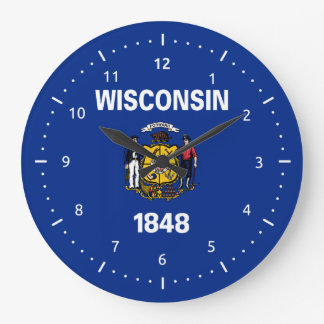 Wisconsin flag, American state flag Clock