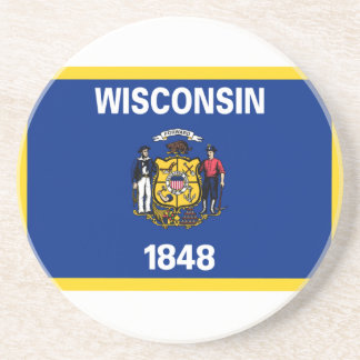 Wisconsin Flag Coasters