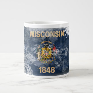 Wisconsin Flag Large Coffee Mug