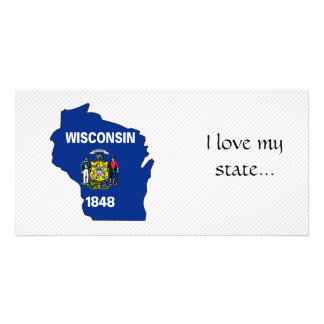 Wisconsin Flag Map Photo Cards
