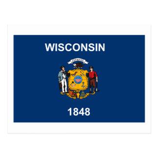 Wisconsin Flag Postcard