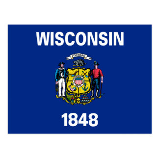 Wisconsin Flag Postcard