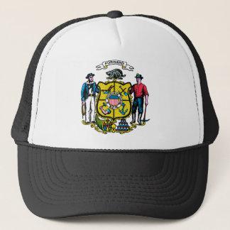 Wisconsin Flag Theme 00 Trucker Hat