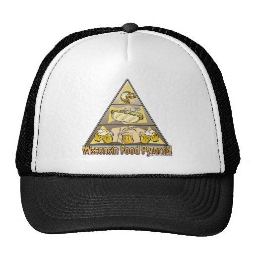 Wisconsin Food Pyramid Mesh Hat