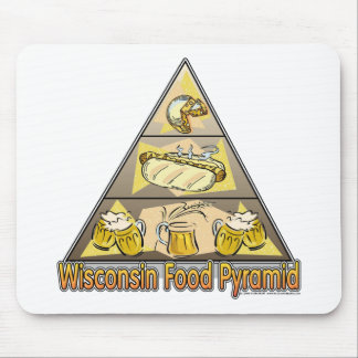 Wisconsin Food Pyramid Mouse Pad