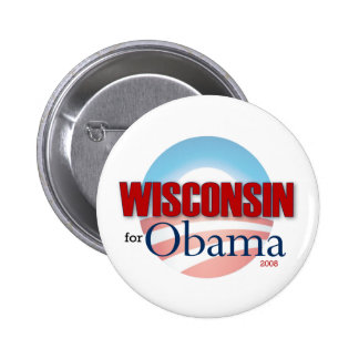 WISCONSIN for Obama 6 Cm Round Badge