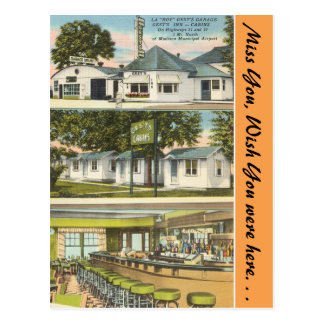 Wisconsin, Gest's Garage, Inn & Cabins, Madison Postcard