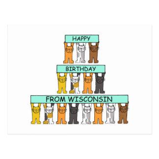 Wisconsin Happy Birthday Postcard