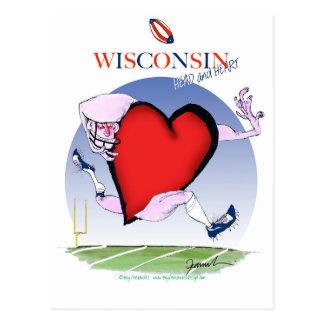 wisconsin head heart, tony fernandes postcard