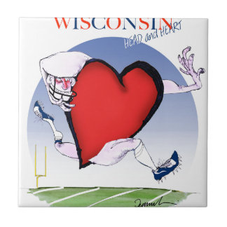 wisconsin head heart, tony fernandes small square tile