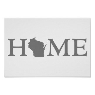Wisconsin Home State Word Art Poster