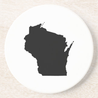 Wisconsin in Black Coaster
